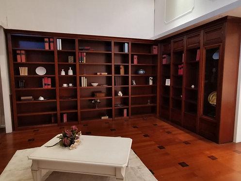 ZG12 Libreria Dall'Agnese CILIEGIO L 402 c/CORNICE (H 232 spalla)