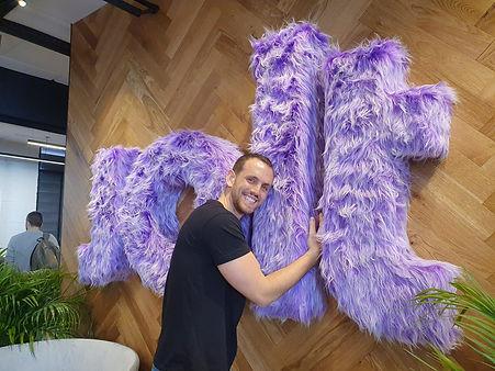 Jolt's CEO cuddles his furry logo
