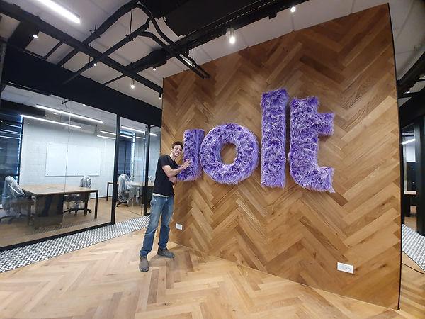 Jolt's logo and Roy Drabkin