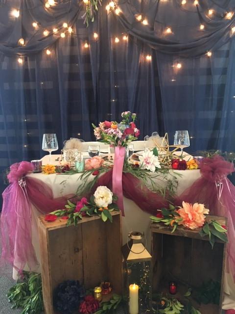 Wedding Head table in Shingle Springs
