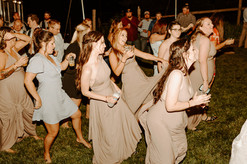 Getting down at an outdoor wedding in Grass Valley, CA.