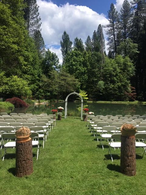 Beautiful ceremony location in Nevada City, CA.