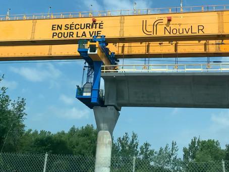 El REM, tren ligero en construcción en La Gran Montreal