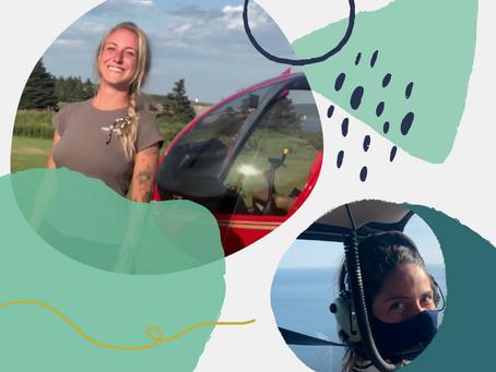 Mujeres dejando en alto a Canadá