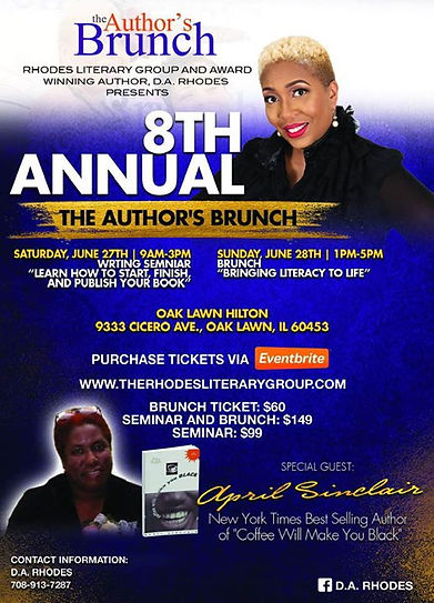 Join us for the 8th annual Author's Brun