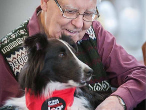 therapy dog senior with dementia
