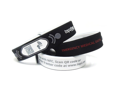 Tap2Tag Medical Wristband V2