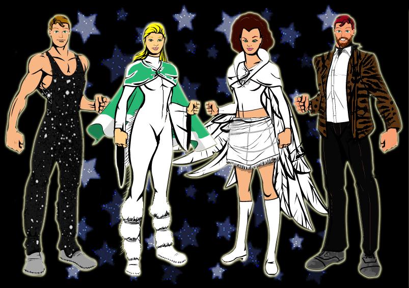 ABBA+Glittercapes