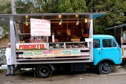 Meat Cart. Cortona, Italy.