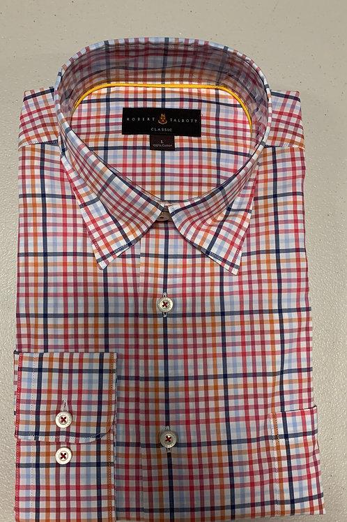 Robert Talbott- Multicolor Plaid Sport Shirt