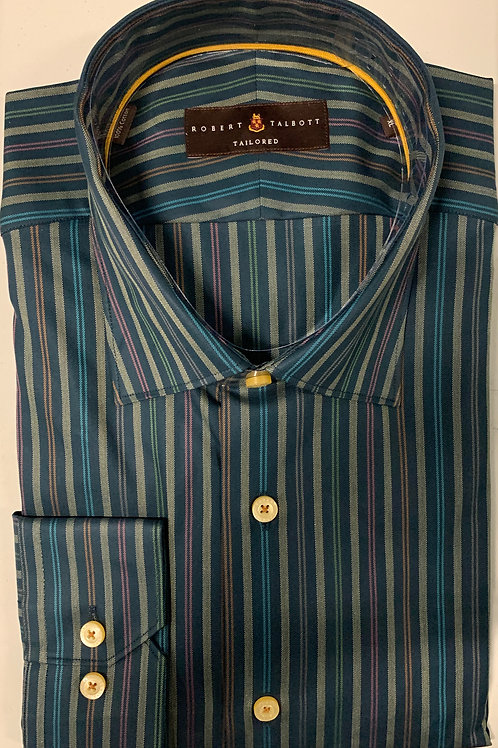 Robert Talbott- Vertical Striped Sport Shirt