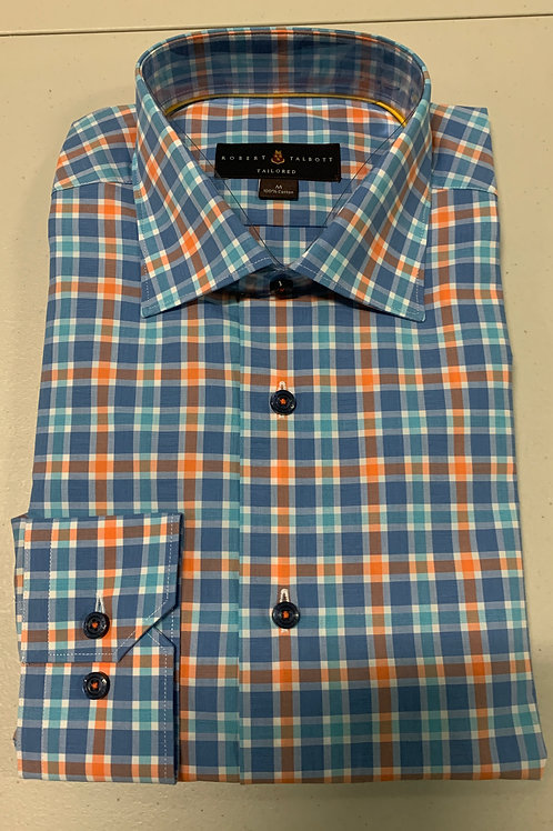 Robert Talbott-Plaid Sport Shirt