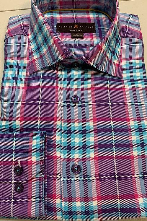 Robert Talbott- Plaid Print Sport Shirt