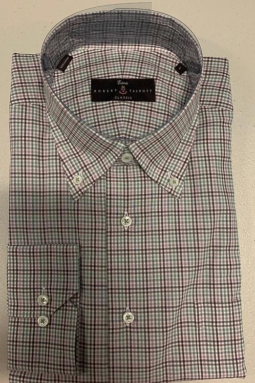 Robert Talbott- Thin Striped Plaid Sport Shirt