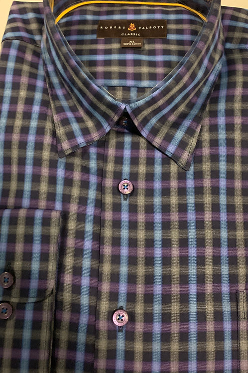 Robert Talbott- Checked Trim Sport Shirt