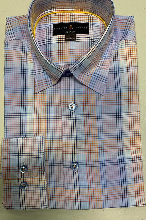Robert Talbott- Multicolored Thin Plaid Sport Shirt
