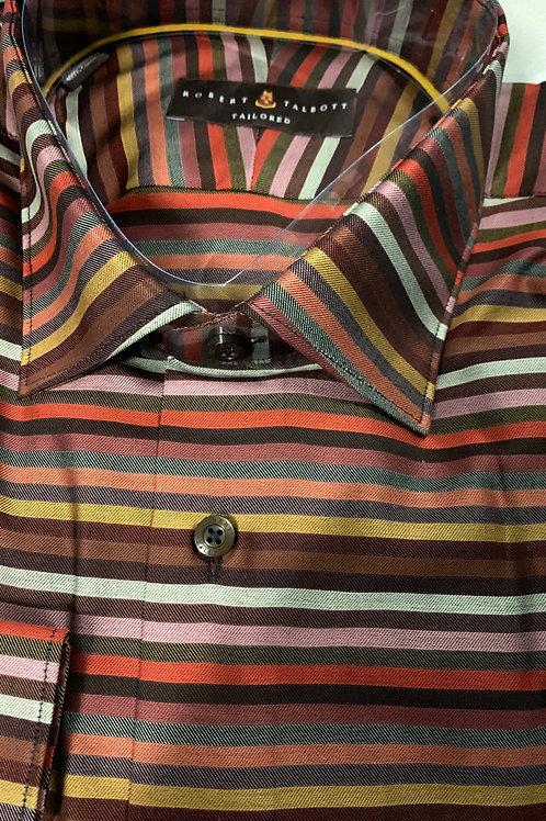 Robert Talbott- Horizontal Striped Sport Shirt