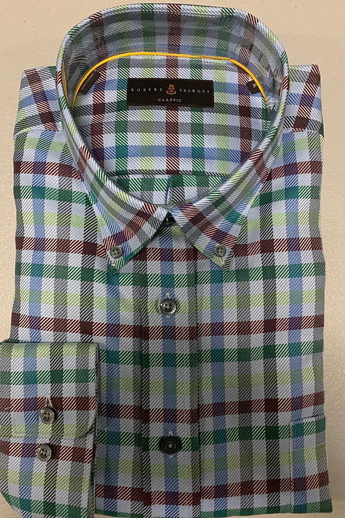 Robert Talbott- Checked Sport Shirt