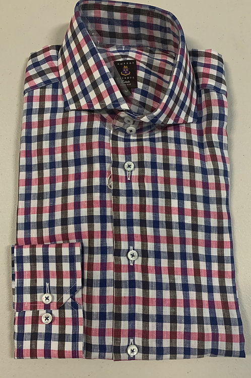 Robert Talbott- Checked Trim Fit Sport Shirt