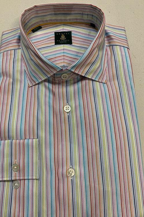 Robert Talbott- Vertical Lined Trim Fit Sport Shirt