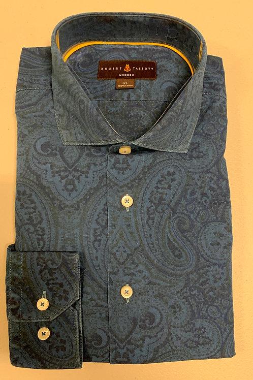 Robert Talbott- Print Sport Shirt
