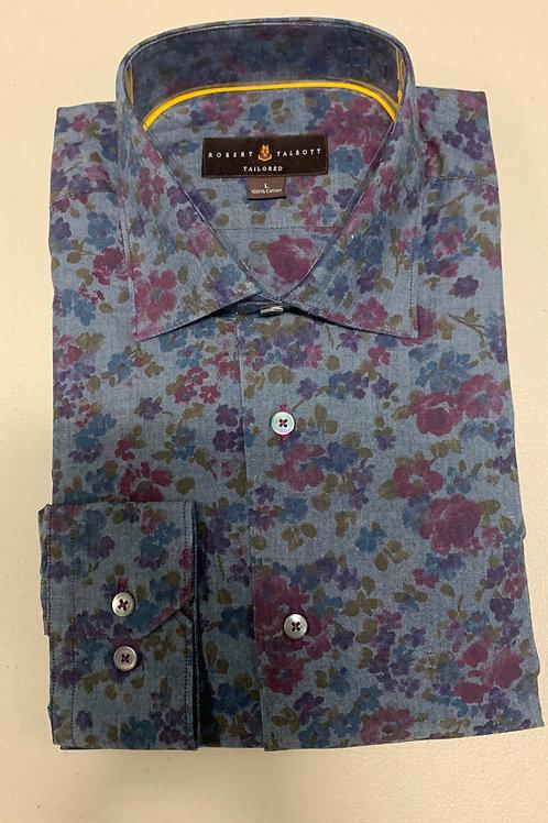 Robert Talbott- Floral Print Sport Shirt