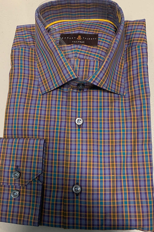 Robert Talbott-Plaid Sport Shirt