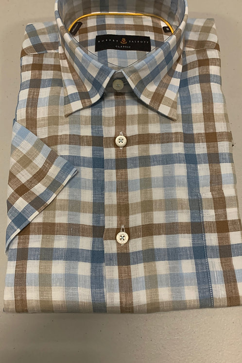 Robert Talbott- Checked (Short Sleeve) Sport Shirt