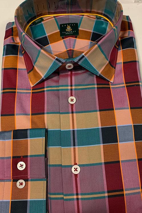 Robert Talbott- Plaid Trim Sport Shirt