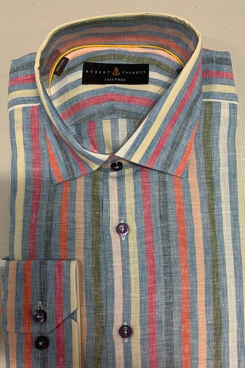 Robert Talbott- Multicolor Striped Sport Shirt
