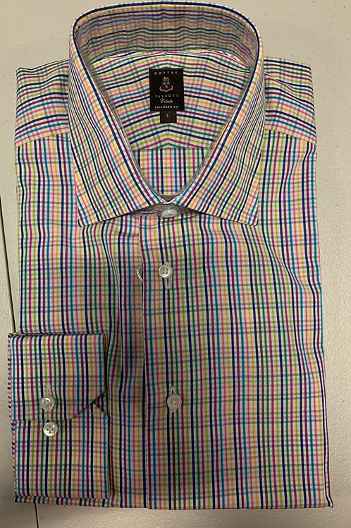 Robert Talbott- Multicolored Checked Sport Shirt