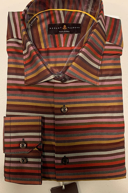 Robert Talbott- Horizontal Striped Sport Shirt