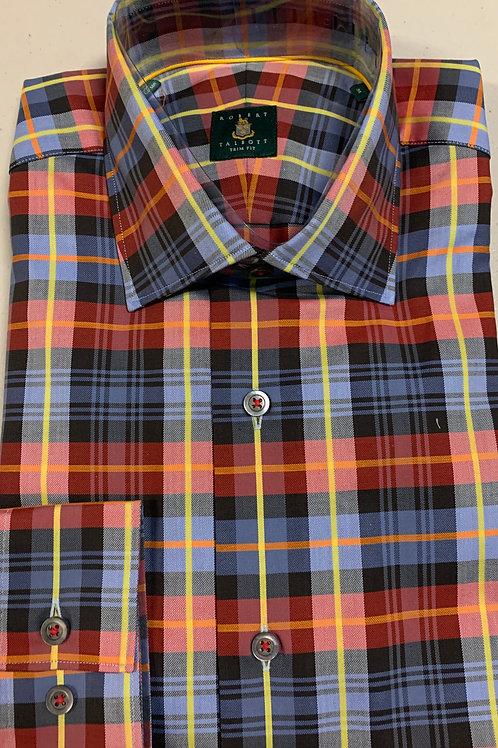 Robert Talbott- Plaid Trim Fit Sport Shirt