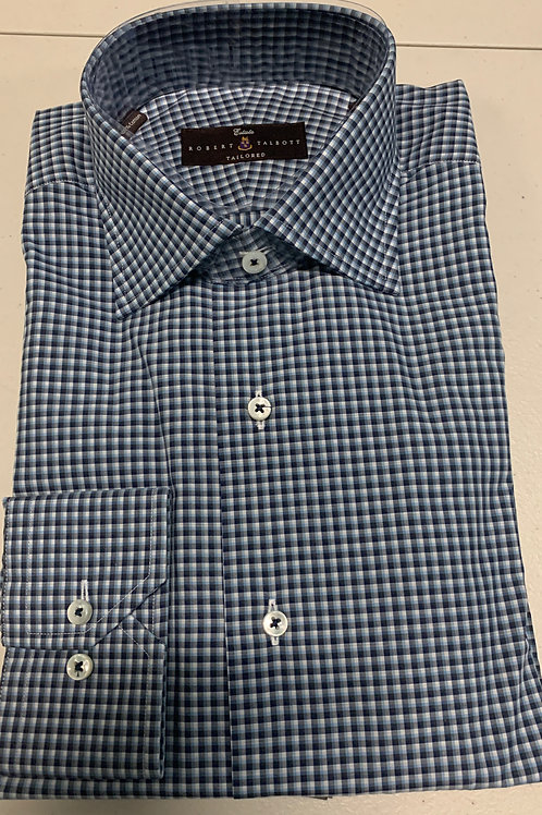 Robert Talbott- Small Checked Sport Shirt