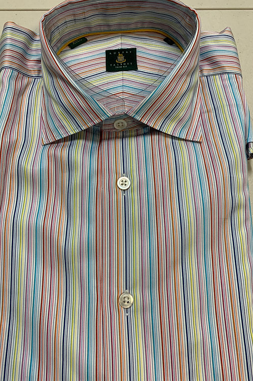 Robert Talbott- Vertical Lined Trim Fit Sport Shirt