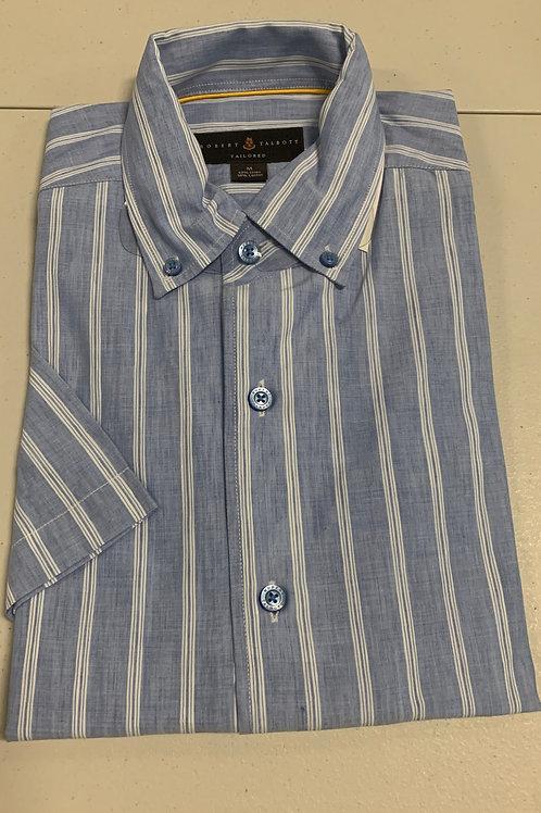 Robert Talbott- Vertical Line (Short Sleeve) Sport Shirt