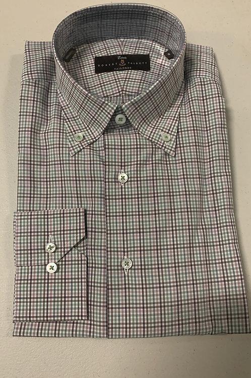 Robert Talbott- Small Plaid Sport Shirt