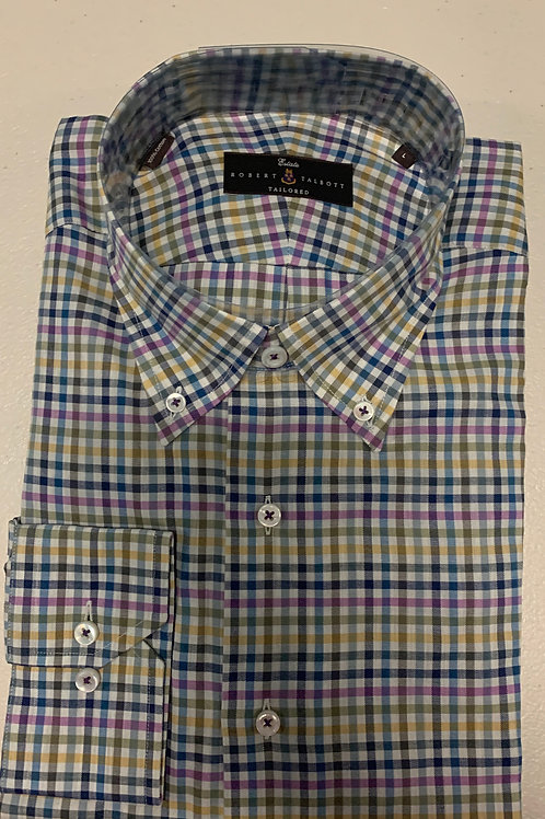 Robert Talbott- Gingham Pattern Sport Shirt