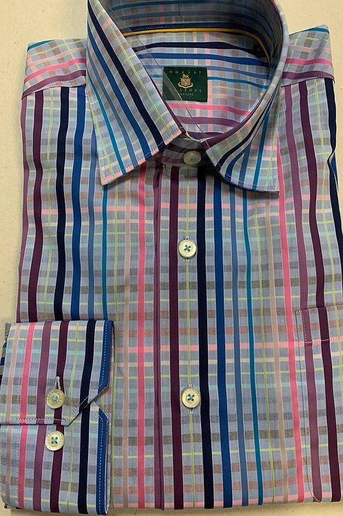 Robert Talbott- Plaid Stripe Sport Shirt