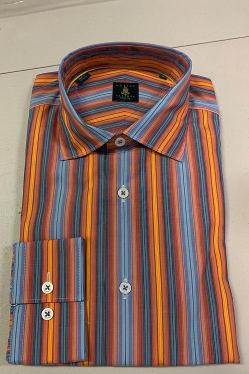 Robert Talbott- Vertical Stripe Trim Fit Sport Shirt