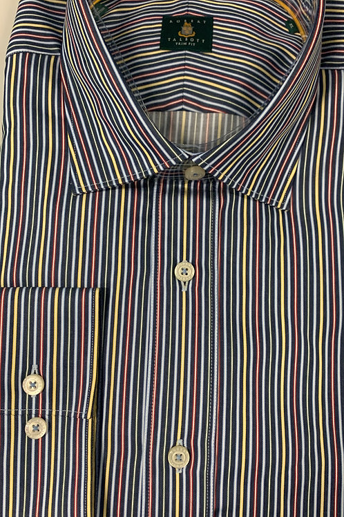 Robert Talbott- Vertical Striped Trim Fit Sport Shirt