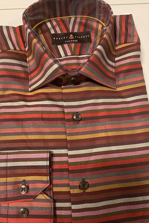 Robert Talbott- Horizontal Stripe Sport Shirt