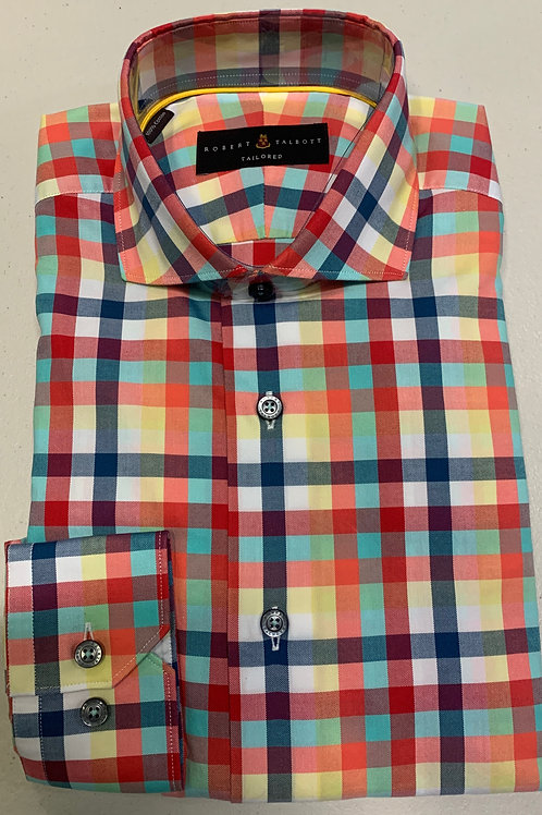Robert Talbott- Multicolored Plaid Sport Shirt