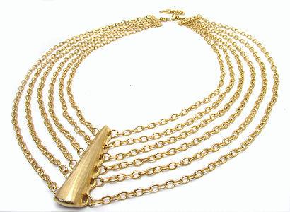 Single Tusk Bib Necklace