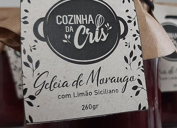 Geleia de Morango com Limão Siciliano