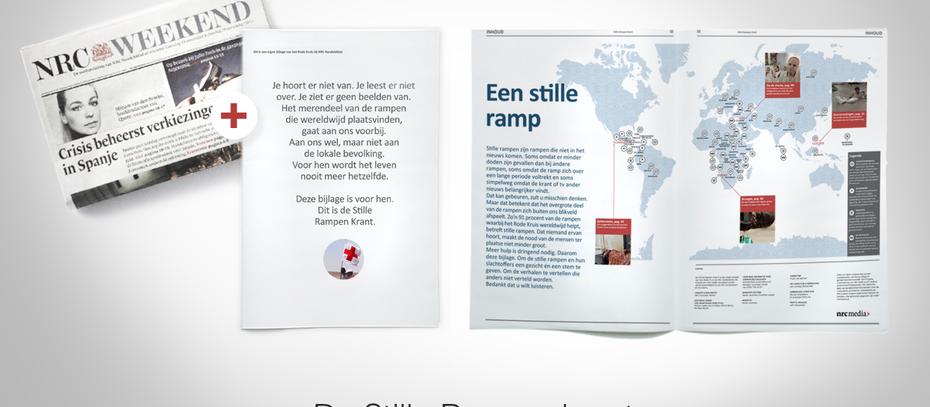 De Stille Rampenkrant: Een speciale NRC-Next bijlage voor Het Rode Kruis.