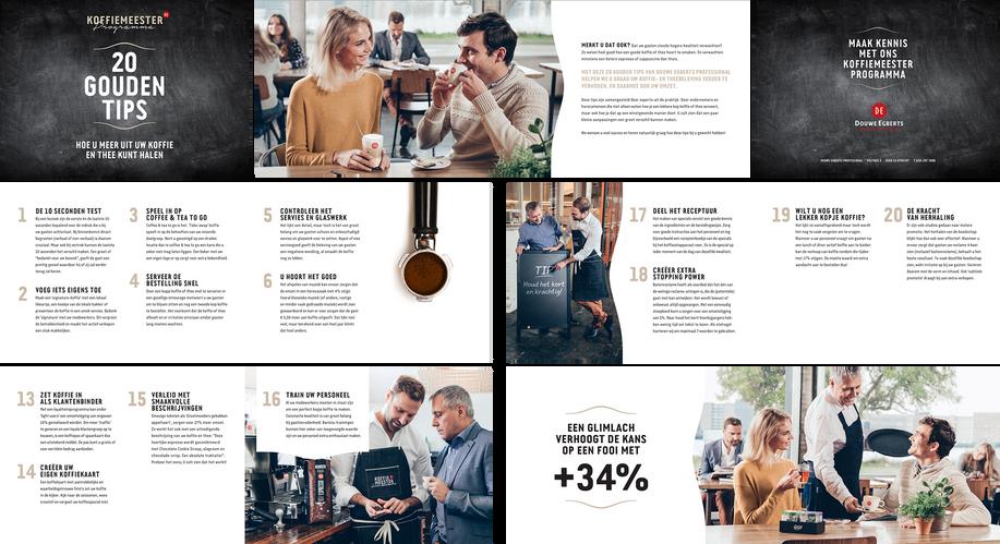 Brochure Douwe Egberts Professional - 20 gouden tips.