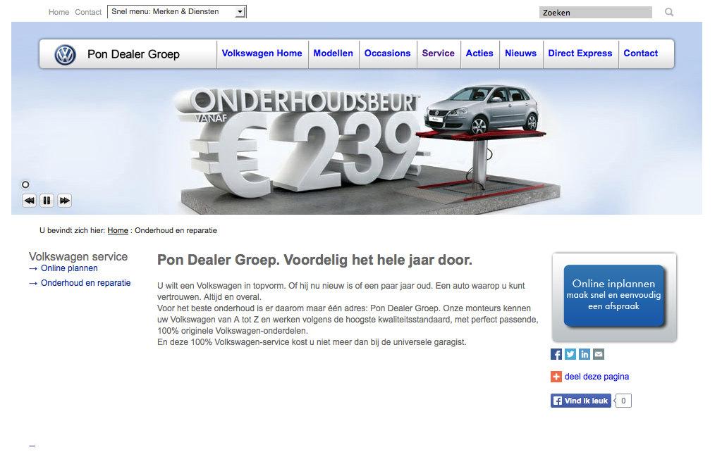 VW Pondealer voordelig het hele jaar doo