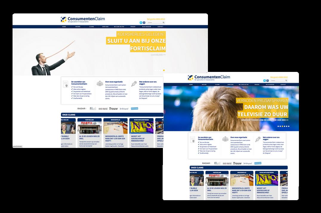Nieuwe website en radiocommercial Consumentenclaim