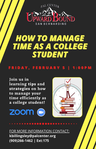 How to Manage Time as a College Student with PAL Center's Upward Bound Program